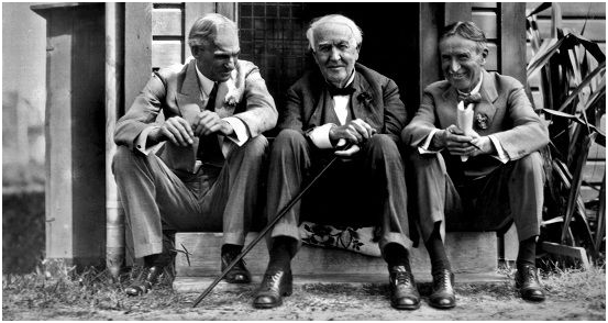 HENRY FORD, THOMAS EDISON & HARVEY FIRESTONE