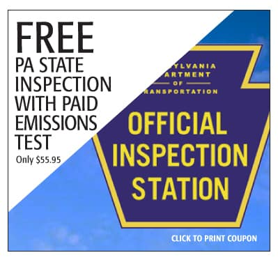 free PA State vehicle inspection - Subaru Monroeville