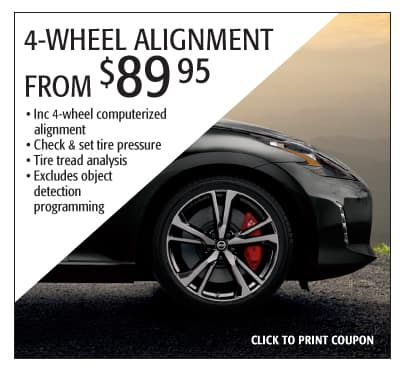 4-Wheel alignment special offer - Subaru Monroeville
