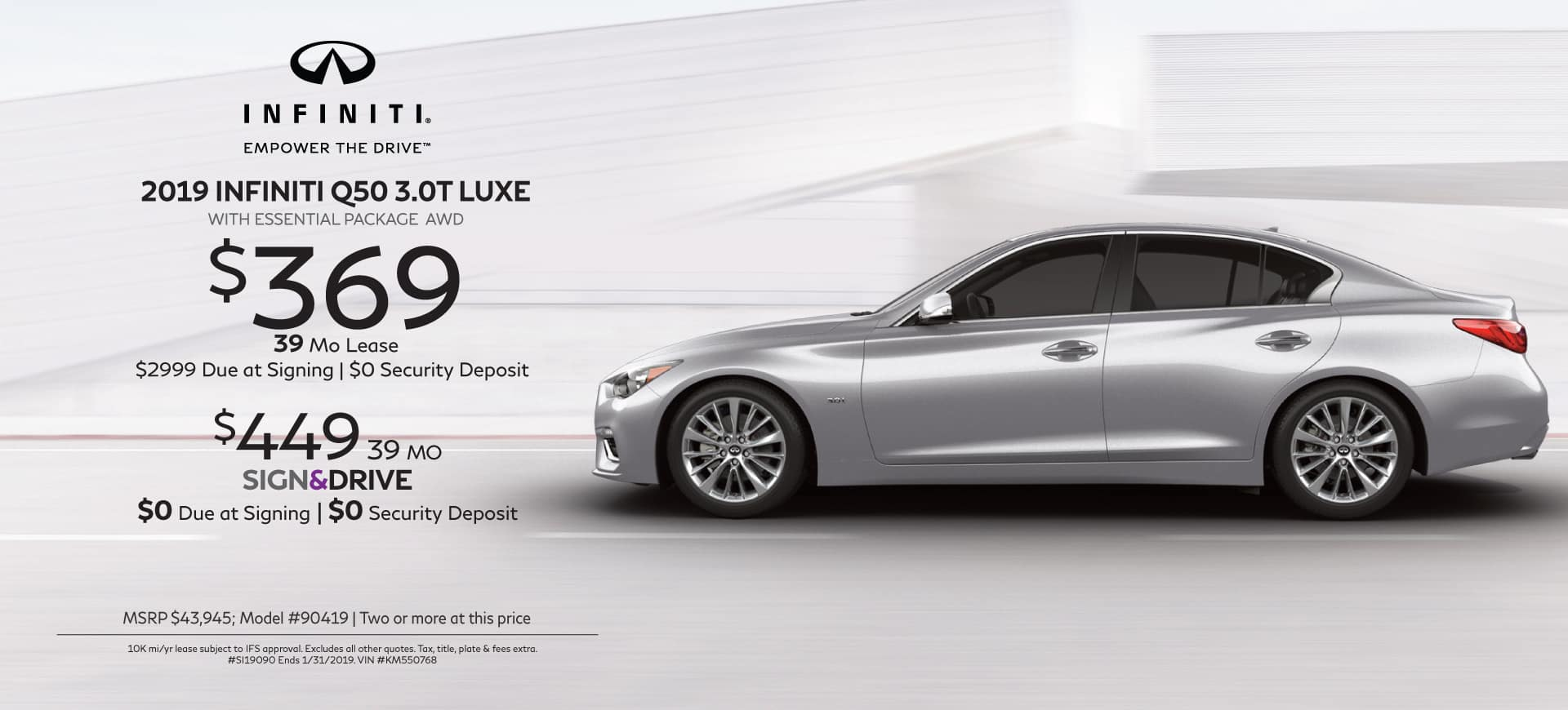 2018 Infiniti specials Q50 3.0T LUXE AWD