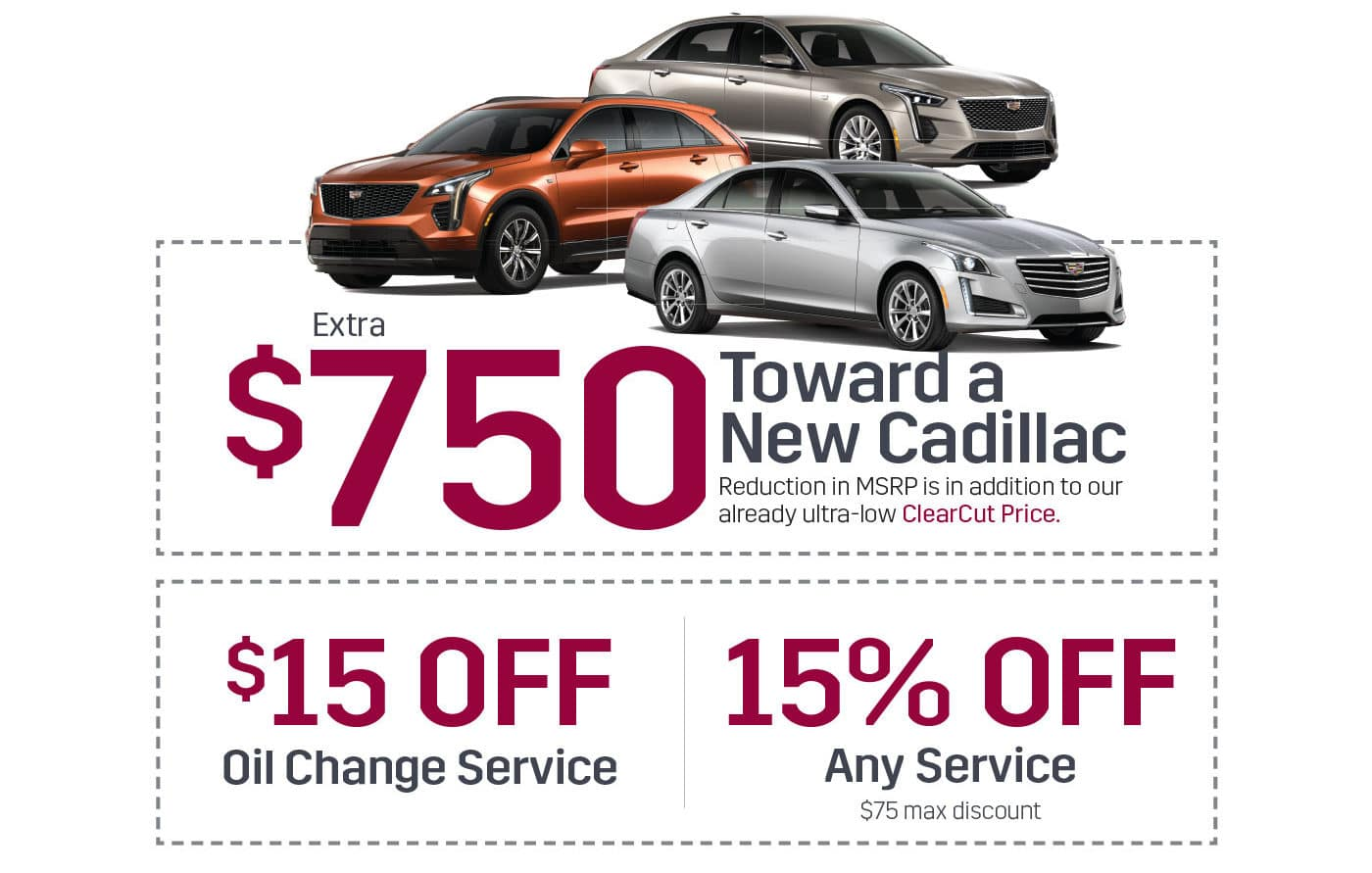 Cadillac Landing page coupons