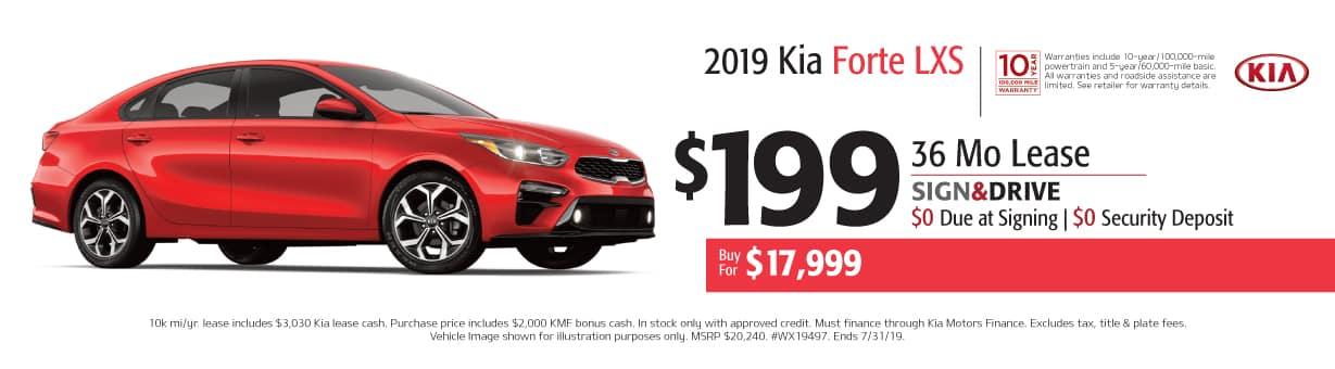 2019 Kia Forte Lease Specials