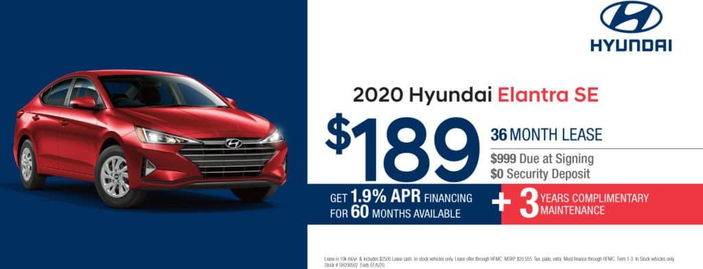 New 2020 Hyundai Elantra SE FWD 4D Sedan