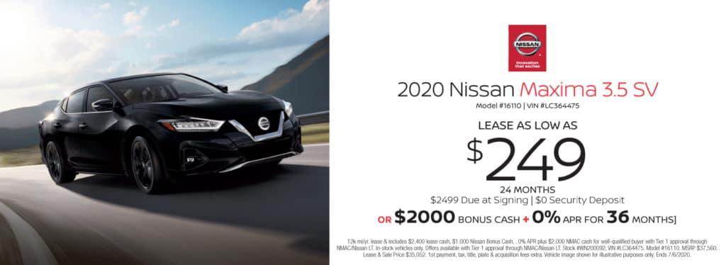 New 2020 Nissan Maxima 3.5 SV FWD 4D Sedan
