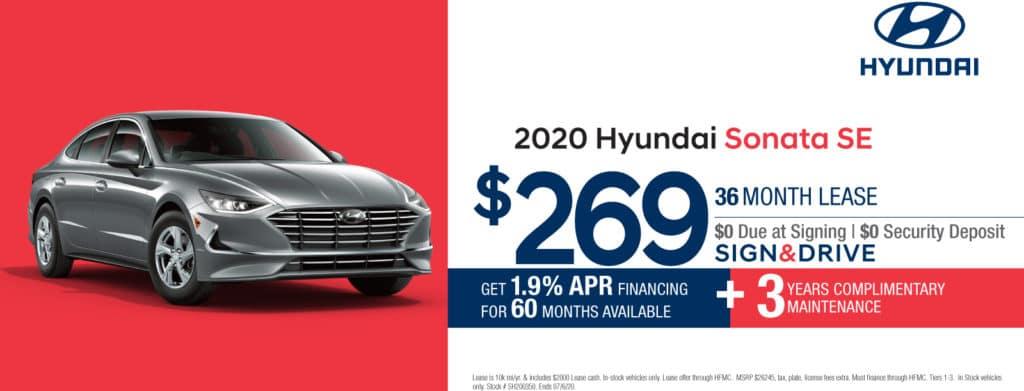 New 2020 Hyundai Sonata SE FWD 4D Sedan