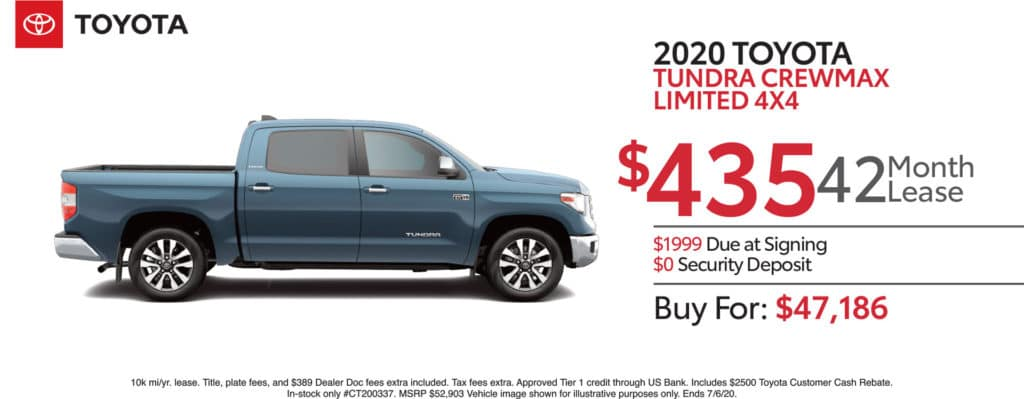 New 2020 Toyota Tundra Limited 4WD