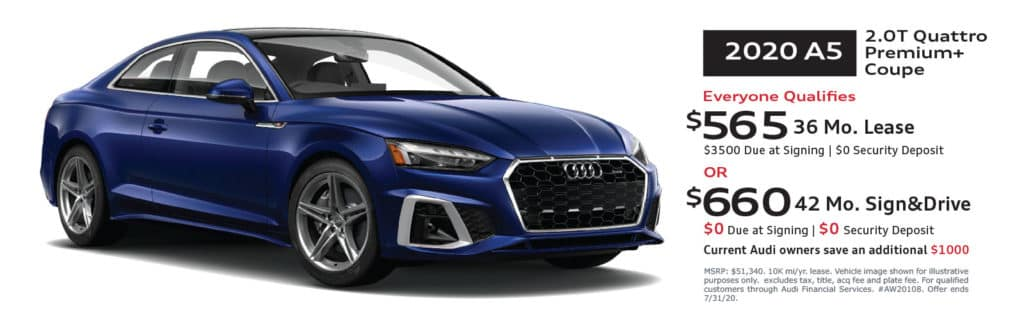 New 2020 Audi A5 2.0T Premium Plus quattro 2D Coupe