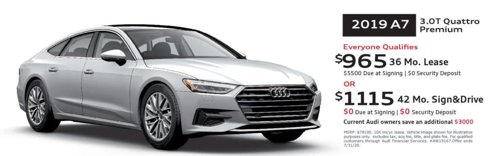 New 2019 Audi A7 quattro 4D Hatchback