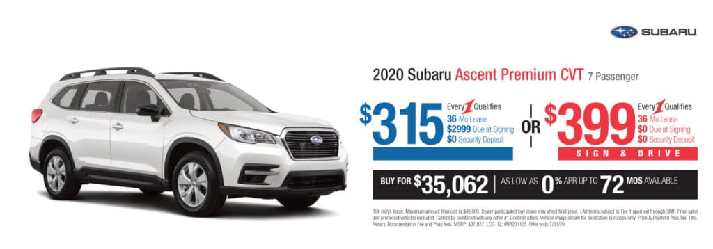 New 2020 Subaru Ascent Premium AWD