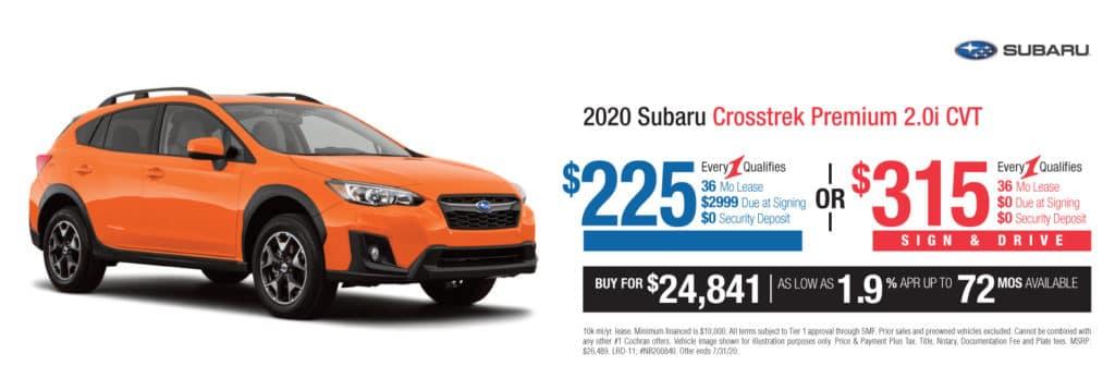 New 2020 Subaru Crosstrek 2.0i Premium AWD