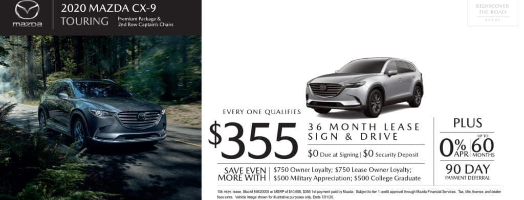 New 2020 Mazda CX-9 Touring AWD