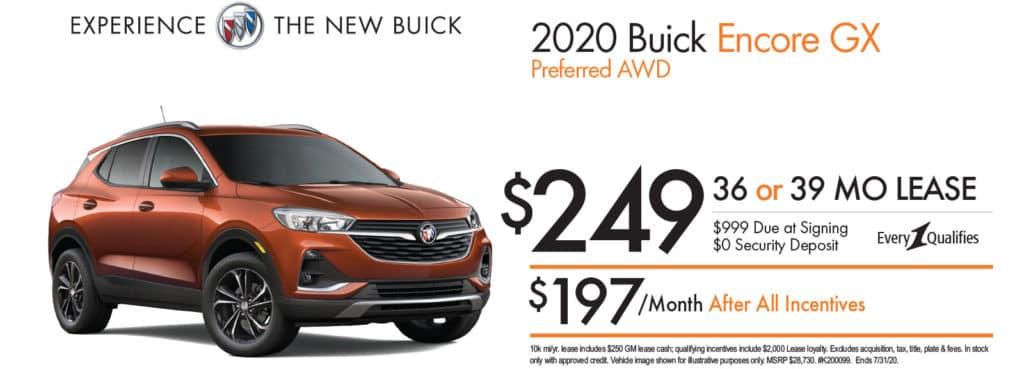 New 2020 Buick Encore GX Preferred AWD