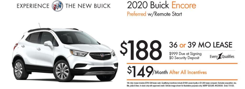 New 2020 Buick Encore Preferred FWD 4D Sport Utility