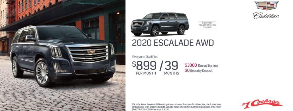 New 2020 Cadillac Escalade Luxury 4WD