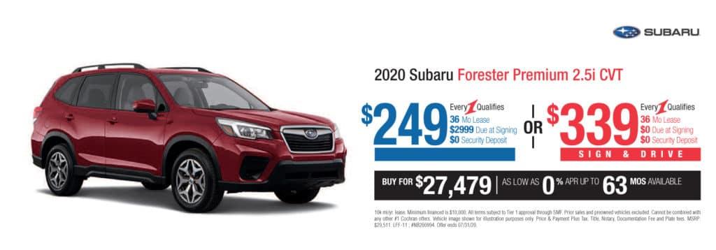 New 2020 Subaru Forester Premium AWD