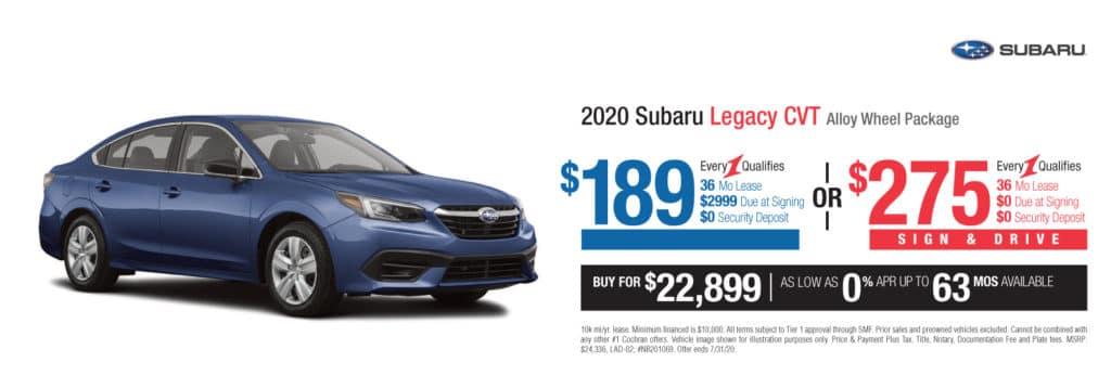 New 2020 Subaru Legacy Base AWD