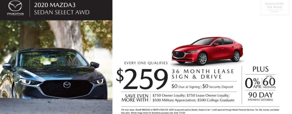 New 2020 Mazda3 Select Base AWD