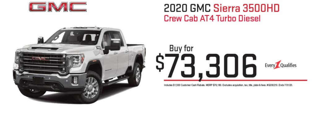 New 2020 GMC Sierra 3500HD AT4 4WD