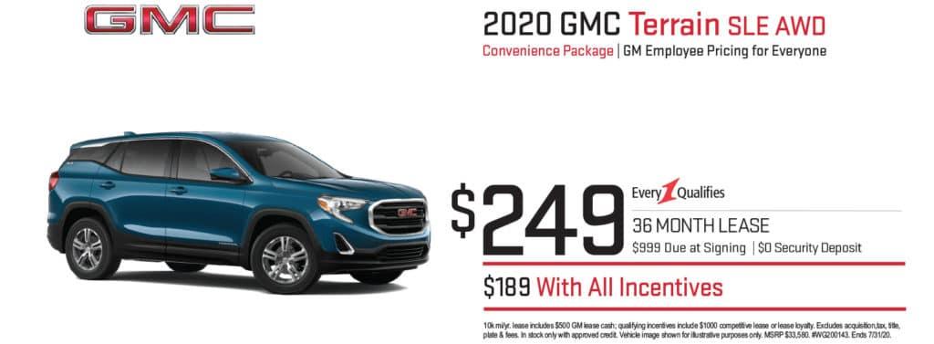New 2020 GMC Terrain SLE AWD