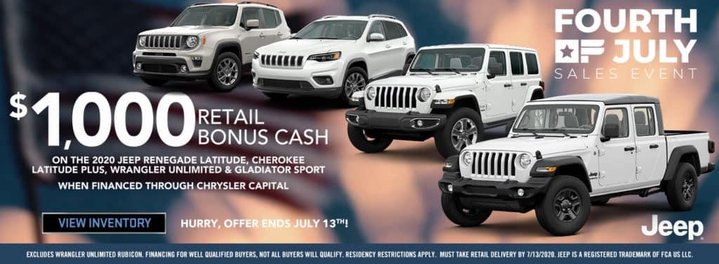 2020 Jeep Bonus Cash