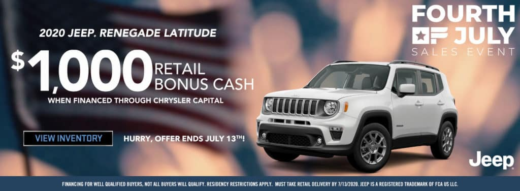 2020 Jeep Renegade Latitude Offer