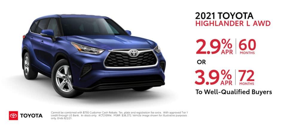 New 2021 Toyota Highlander - APR