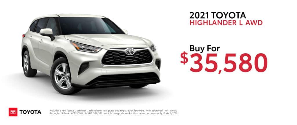 New 2021 Toyota Highlander - Buy