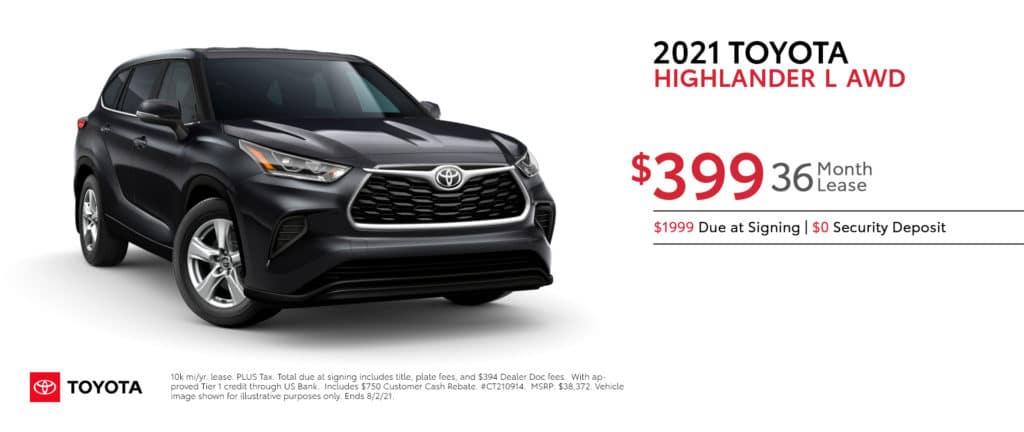New 2021 Toyota Highlander - Lease