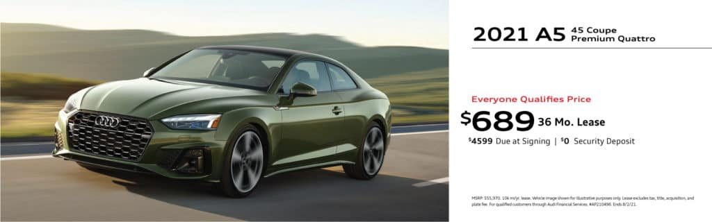 New 2021 Audi A5 Coupe