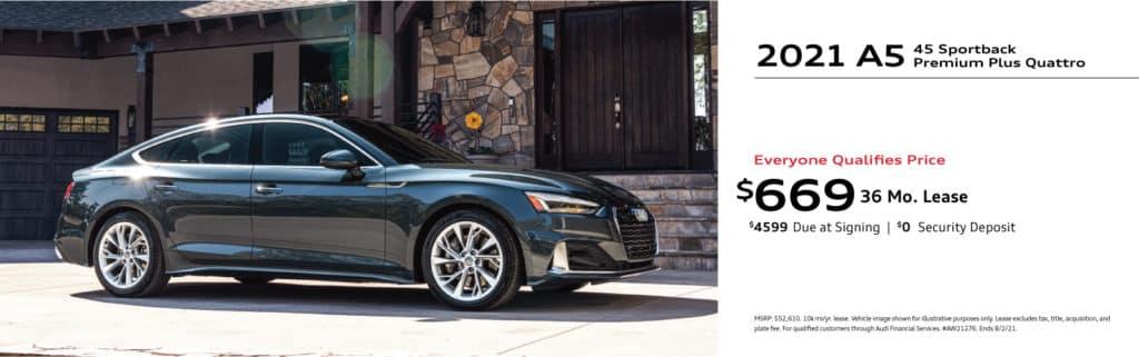 New 2021 Audi A5 Sportback