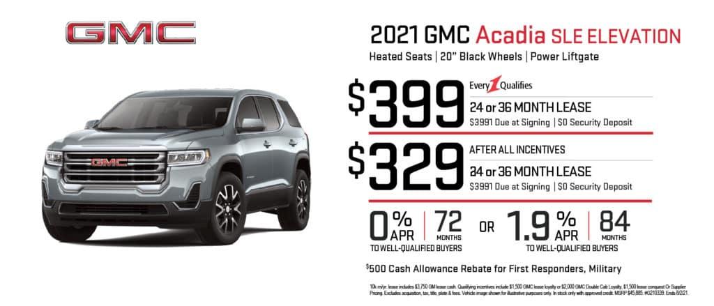 New 2021 GMC Acadia