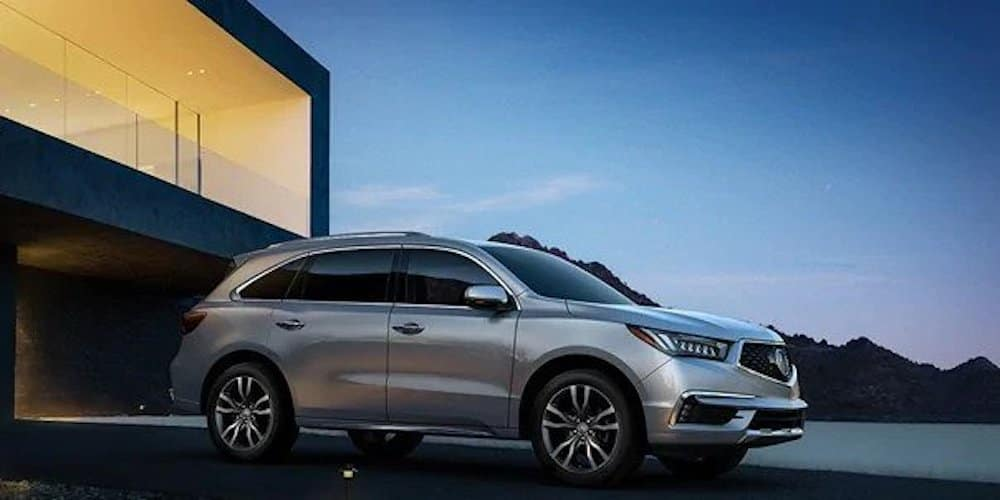 2020 Acura MDX Parked Outside House
