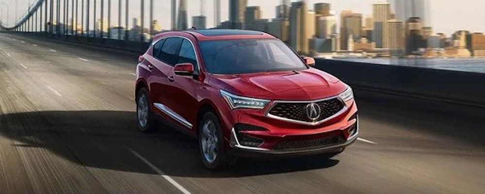 2020 Acura RDX Driving Over Bridge