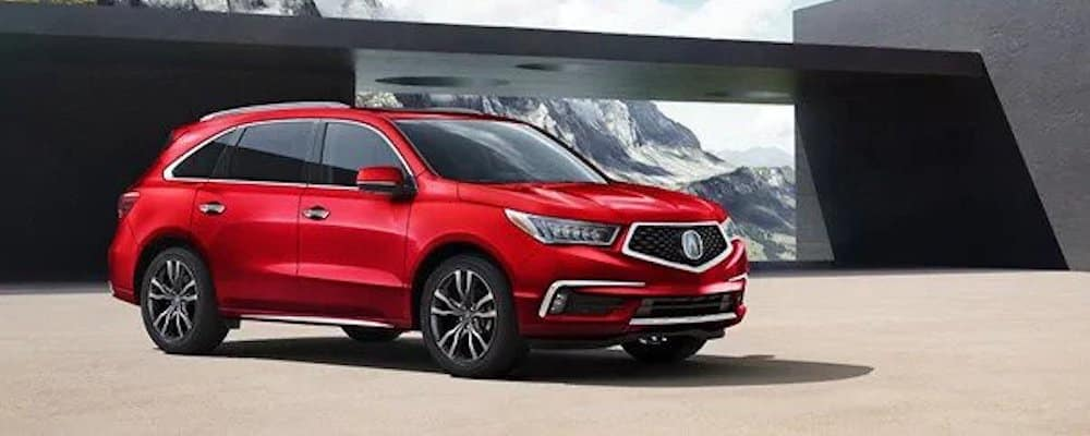 Red 2020 Acura MDX Advance Package