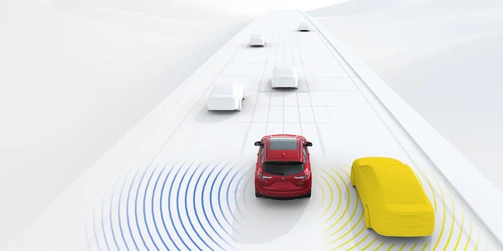 Acura Blind Spot Monitoring Display