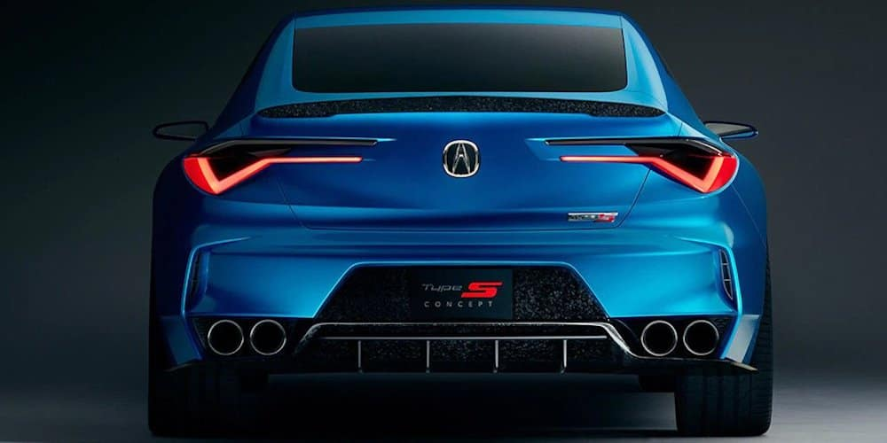 Blue 2020 Acura Type S Concept Rear Image