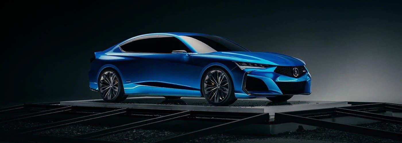 Blue 2020 Acura Type S Concept