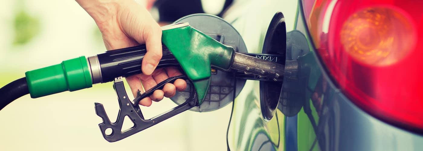 Filling up Car at Gas Pump