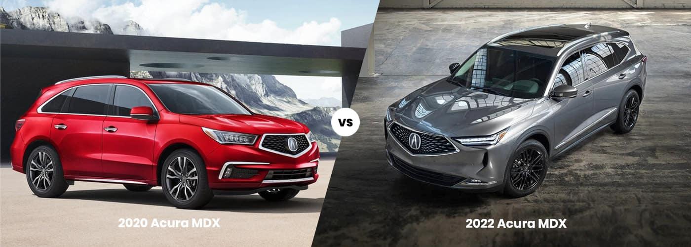 2020 vs 2022 Acura MDX