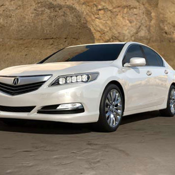 2017 Acura RLX front view white model