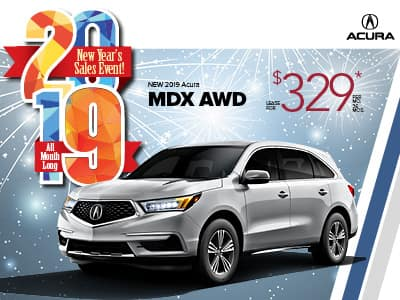 2019 Acura MDX AWD Lease Special