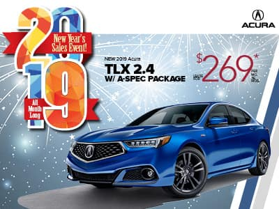 2019 Acura TLX  2.4 w/ A-SPEC Lease Special