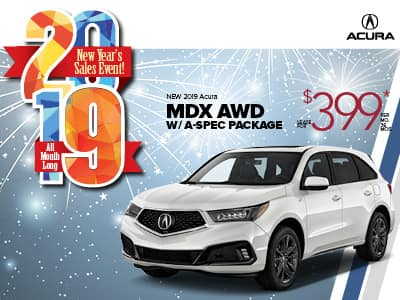 2019 Acura MDX w/ A-SPEC Lease Special