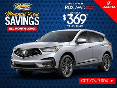 2019 Acura RDX AWD w/ A-SPEC Lease Special