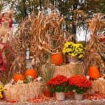 Fall hayride decorations