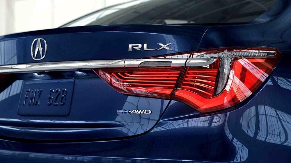 2018 Acura RLX rear end closeup