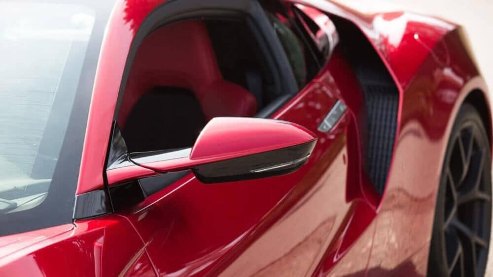 2018 Acura NSX Closeup of Side Mirror