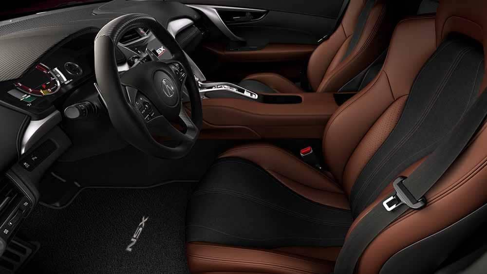 2018 Acura NSX Interior View of Front Seating and Dashboard