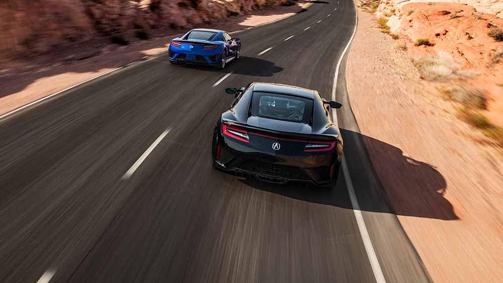 2018 Acura NSX Models Driving Fast