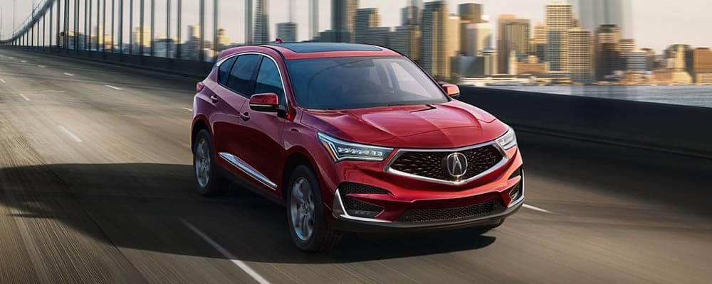 2018 Acura RDX Driving Over a Bridge